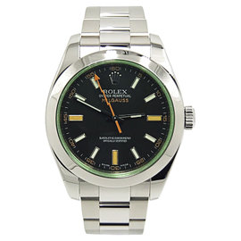 Rolex Milgauss 116400V Stainless Steel Black Dial Automatic 40mm Mens Watch