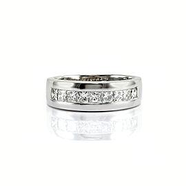 14K White Gold Princess 1.35ctw Diamond Band Size 9