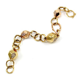 Mimi So Pink Gold Diamond Womens Bracelet