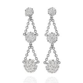 White Gold Diamond Womens Earrings