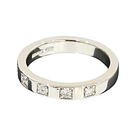 Bulgari Marry Me PT950 Platinum 0.05ct. Diamonds Ring Size 4.25