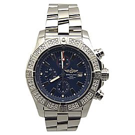 Breitling Super Avenger A1337053/C75 Stainless Steel & Blue Dial 48mm Mens Watch