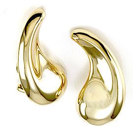 Tiffany & Co. Elsa Peretti 18K Yellow Gold Teardrop Earrings