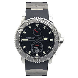 Ulysse Nardin Maxi Marine Diver 263-33 Stainless Steel / Titanium & Rubber with Black Dial 43mm Mens Watch