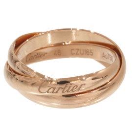 Cartier 18K Rose Gold Trinity de Cartier 3 Bands Ring Size 5