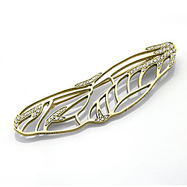 Tiffany & Co. Angela Cummings 18K Yellow Gold Diamond Dragonfly Wing Brooch