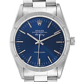 Rolex Air King 34mm Blue Dial Oyster Bracelet Mens Watch 14010