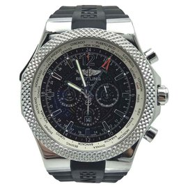 Breitling Bentley GMT Chronograph A47362 Stainless Steel Black Dial 49mm Mens Watch