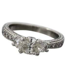 Scott Kay Platinum 1.39ct Diamond Ring Size 6