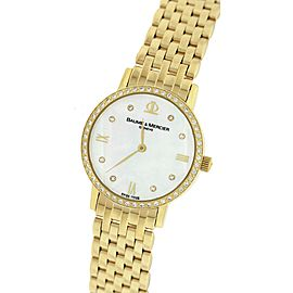 Baume & Mercier Classima MOAO8579 18K Yellow Gold 31mm Womens Watch