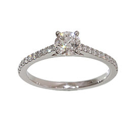 De Beers 950 Platinum Diamond 0.55ct Ring Size 5
