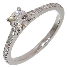 De Beers 950 Platinum Diamond 0.55ct Ring Size 5