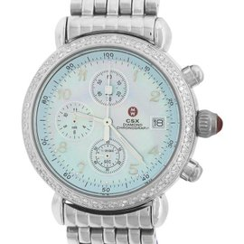 Michele CSX Diamond Chronograph 71-4000/5000 Stainless Steel 36mm Womens Watch
