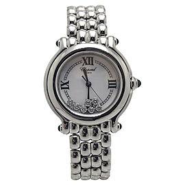 Chopard Happy Sport 278236-3005 Stainless Steel wDiamonds Quartz 32mm Womens Watch