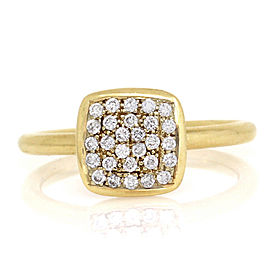 18K Yellow Gold Pave Diamond Stackable Ring Size 8.75