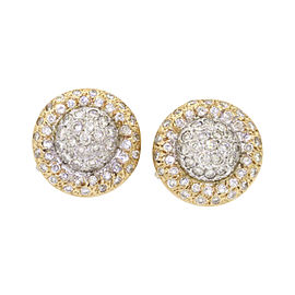 Piero Milano 18K Yellow and White Gold with 1.34ctw Diamond Earrings