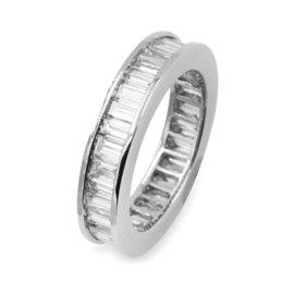 Platinum 2.50ctw. Baguette Diamond Eternity Band Ring Size 5.25