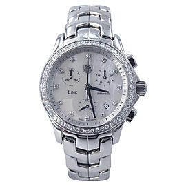 Tag Heuer Carrera CJF1314.BA0580 Mother Of Pearl Diamond Dial & Bezel 33mm Womens Watch