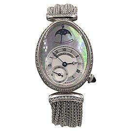 Breguet Renine de Naples 8908BB 18K White Gold Automatic 36mm Womens Watch