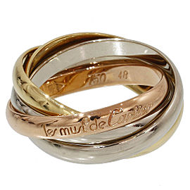 Cartier Trinity de Cartier 18K Yellow White and Rose Gold 5 Band Ring Size 5