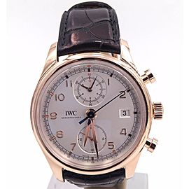 IWC Portuguese IW390402 18K Rose Gold / Leather Automatic 42mm Mens Watch