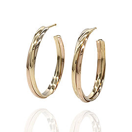 Cartier Trinity 18K Yellow, White, & Rose Gold Hoop Earrings