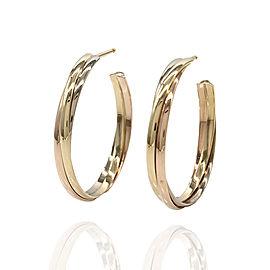 Cartier Trinity 18K Yellow, White, & Rose Gold Hoop Earrings