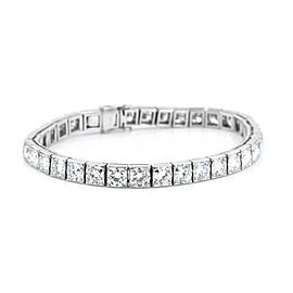 Platinum 17.00ctw European Cut Diamond Tennis Bracelet