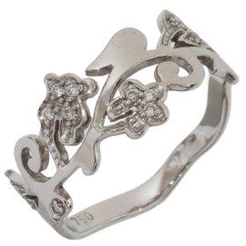 Tous 18K White Gold with Diamonds Ring Size 6.25