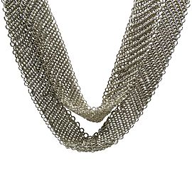 Tiffany & Co. Peretti 925 Sterling Silver Mesh Scarf Vintage Necklace