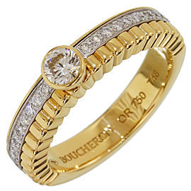 Boucheron 18K White and Yellow Gold with Diamond Ring Size 4.75
