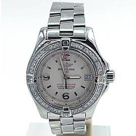 Breitling Colt A77380 Stainless Steel with Diamond Quartz 33mm Womens Watch