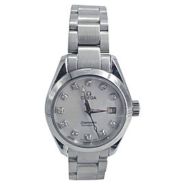 Omega Aqua Terra 2563.75 Stainless Steel with Diamond Quartz 29mm Womens Watch