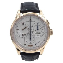 Jaeger LeCoultre Duometre 167108 Chronograph 18K Rose Gold 42mm Mens Watch