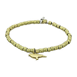 Pomellato Dodo 18K Yellow Gold Vintage Bird Charm Toggle Bracelet