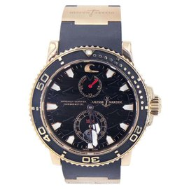 Ulysse Nardin Marine 266-37 18K Rose Gold & Rubber 43mm Mens Watch