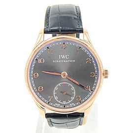 IWC Portuguese IW545406 18K Rose Gold Automatic 44mm Mens Watch