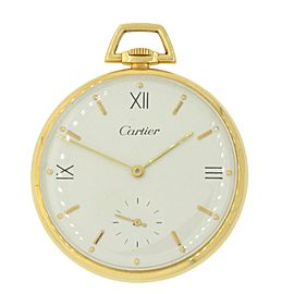 Cartier 18K Yellow Gold Manual Vintage 44mm Unisex Pocket Watch
