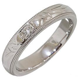 Mikimoto 950 Platinum with 0.02ct Diamond Band Ring Size 4