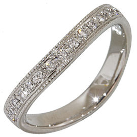 Mikimoto Perlita 950 Platinum with 0.16ctw Diamonds Band Ring Size 7