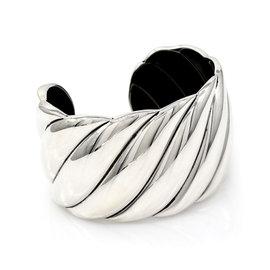 David Yurman 925 Sterling Silver Sculpted Cable Bracelet
