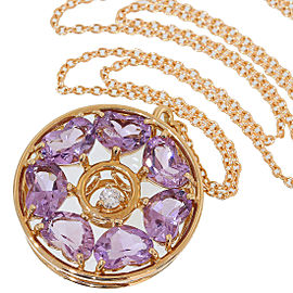 Vecchio 18K Rose Gold Diamond, Amethyst Necklace
