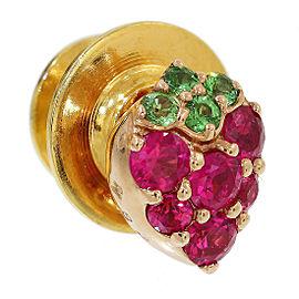 Vecchio 18K Rose Gold Ruby, Sapphire Brooch