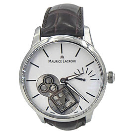Maurice Lacroix Masterpiece Square MP7158-SS001-101-1 Stainless Steel 43mm Mens Watch
