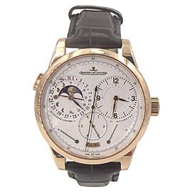 Jaeger LeCoultre Duometre Lunaire 6042521 18K Rose Gold 39mm Mens Watch