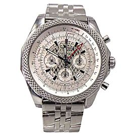 Breitling For Bentley 04 GMT AB043112/G774 Stainless Steel Silver Dial 49mm Mens Watch