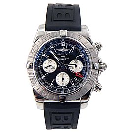 Breitling Chronomat GMT AB042011/BB56 Stainless Steel on Rubber Strap 44mm Mens Watch
