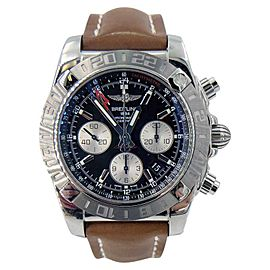 Breitling Chronomat GMT AB042011/BB56 on Leather Strap 44mm Mens Watch