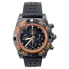 Breitling Chronomat MB0111C2/BD07 Black Stainless Steel Orange 44mm Mens Watch