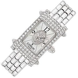 Corum 18K White Gold Diamond 22mm Womens Watch